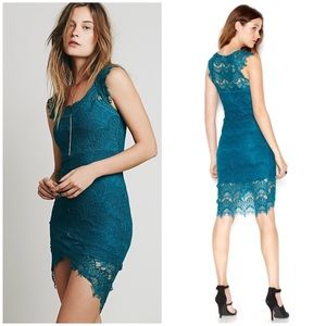 Intimately Free People Lace Dress Peekaboo Slip